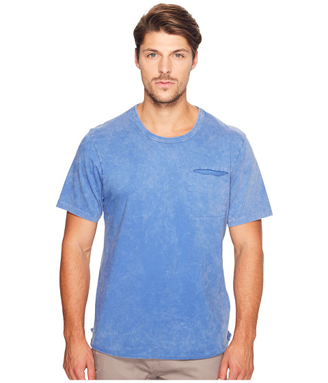 Imbracaminte Barbati Alternative Apparel Brushed Supima Cotton w Sundried Wash Washed Out Tee Sun-Dried Lake Blue