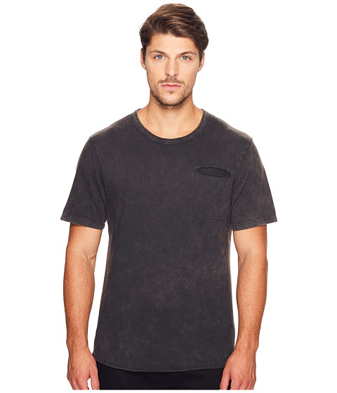 Imbracaminte Barbati Alternative Apparel Brushed Supima Cotton w Sundried Wash Washed Out Tee Sun-Dried Smoke