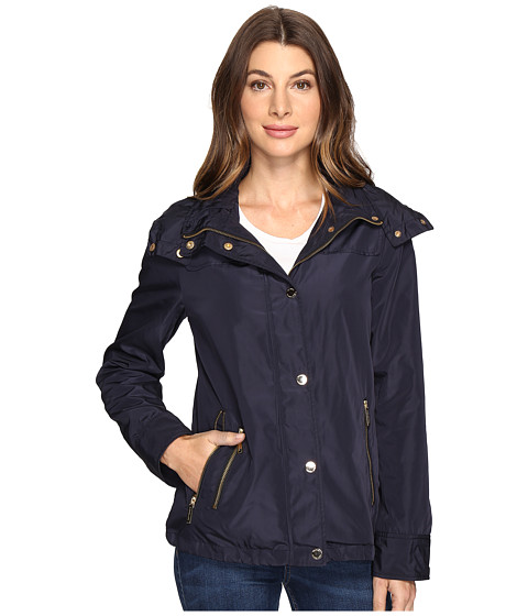 Imbracaminte Femei MICHAEL Michael Kors Hooded Snap Front Jacket M322087R Navy