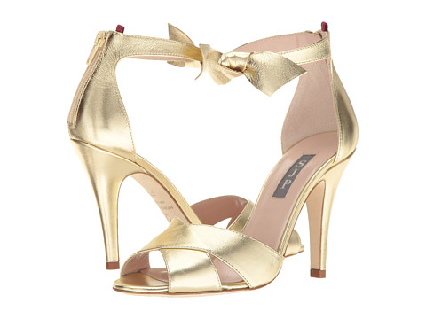 Incaltaminte Femei SJP by Sarah Jessica Parker Buckingham Platino Gold Leather