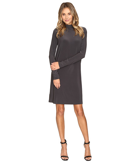 Imbracaminte Femei KAMALIKULTURE Long Sleeve Turtleneck Dress To Knee Pewter