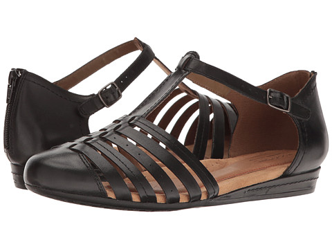 Incaltaminte Femei Rockport Cobb Hill Galway Strappy T Black Leather