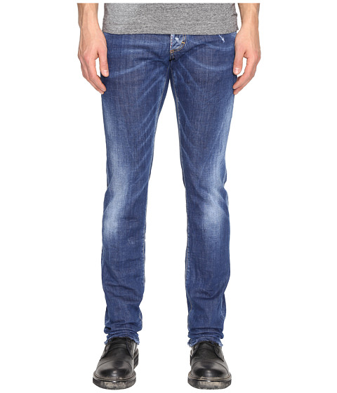 Imbracaminte Barbati DSQUARED2 Slim Basic B Wash Jeans Blue