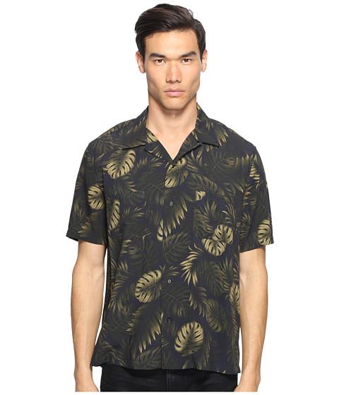Imbracaminte Barbati Vince Short Sleeve Palm Printed Cabana Shirt Coastal Bule