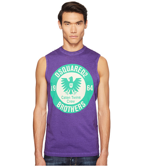 Imbracaminte Barbati DSQUARED2 Military Glam Sleeveless T-Shirt Purple