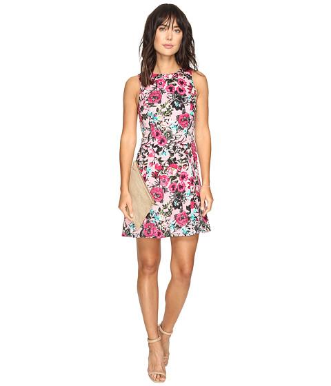 Imbracaminte Femei kensie Wild Garden Dress with Cut Out Side KS3K7740 Bubblegum Combo