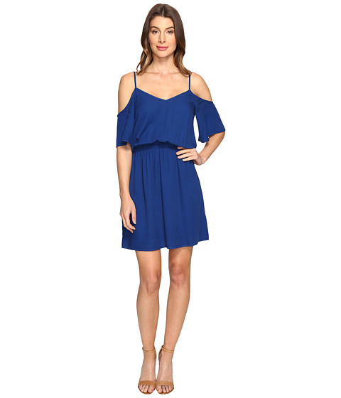 Imbracaminte Femei Splendid Rayon Crosshatch Cold Shoulder Dress Royal Azure