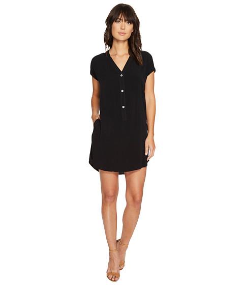 Imbracaminte Femei Allen Allen Short Sleeve Henley Dress Black
