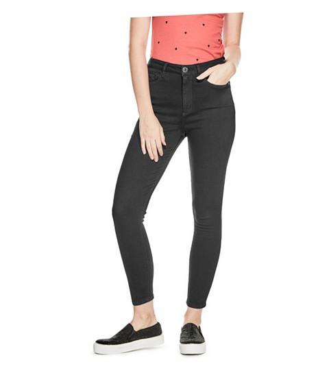 Imbracaminte Femei GUESS Simmone Super High-Waist Skinny Jeans black wash