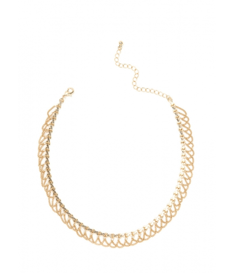 Bijuterii Femei CheapChic Chain-ge In Attitude Draped Chain Choker Gold