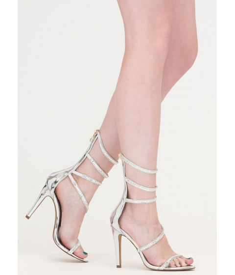 Incaltaminte Femei CheapChic Strappy Life Jeweled Metallic Heels Silver