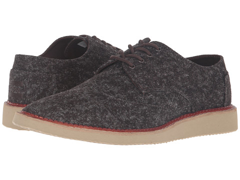 Incaltaminte Barbati TOMS Brogue Brown Marled Textile