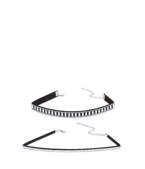 Accesorii Femei CheapChic Nineties Glam Jeweled Choker Set Black