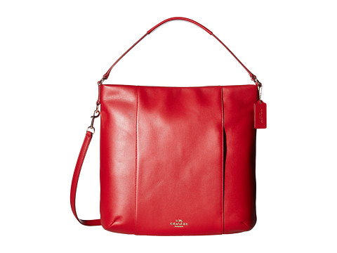 Genti Femei COACH Leather Isabelle Shoulder Bag Classic Red