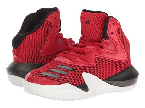 Incaltaminte Baieti adidas Crazy Team Basketball (Little KidBig Kid) Core BlackSolid GreyScarlet