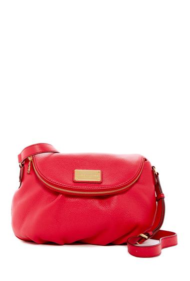 Genti Femei Marc Jacobs Classic Leather Messenger Bag CRIMSON