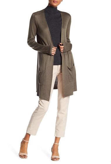 Imbracaminte Femei JOSEPH A Solid Double Knit Cardigan TUMBLEWEED