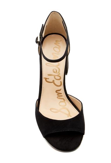 Incaltaminte Femei Sam Edelman Susie dOrsay Suede Ankle Strap Sandal BLACK