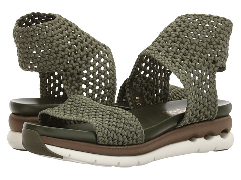Incaltaminte Femei Salvatore Ferragamo Elastic Platform Sandal New Salvia