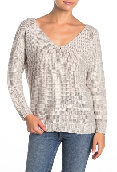 Imbracaminte Femei SUSINA V-Back Marled Knit Sweater Petite PINK HUSH MARL