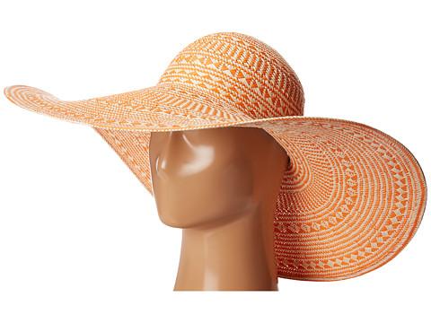 Accesorii Femei LAUREN Ralph Lauren Basketry Weave Sun Hat OrangeNatural