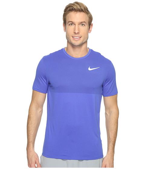 Imbracaminte Barbati Nike Zonal Cooling Relay Short Sleeve Running Top Paramount BlueReflective Silver