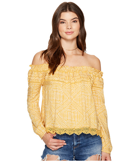 Imbracaminte Femei Roxy Off The Shoulder Cold Shoulder Top Golden Apricot Cayo Coco