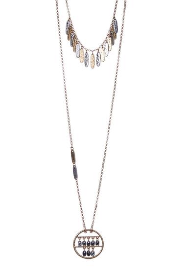 Bijuterii Femei Melrose and Market Short Charm and Pendant Necklace - Set of 2 GOLD-RHODIUM