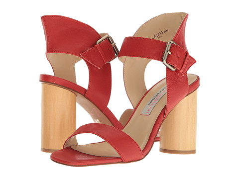 Incaltaminte Femei Chinese Laundry Locator Leather Heeled Sandal Red
