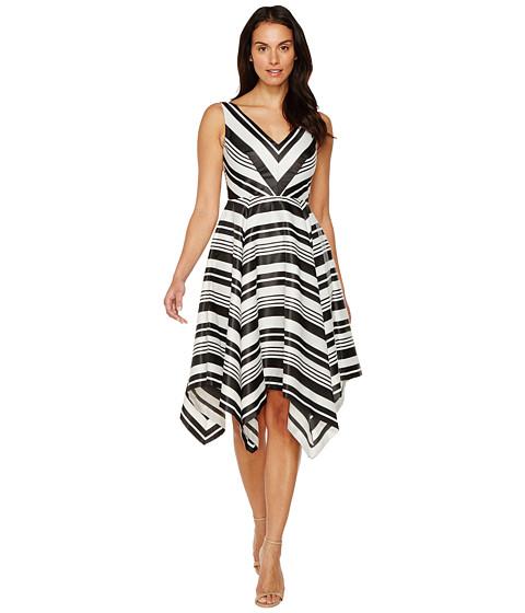 Imbracaminte Femei Adrianna Papell Handkerchief Skirt Dress BlackIvory