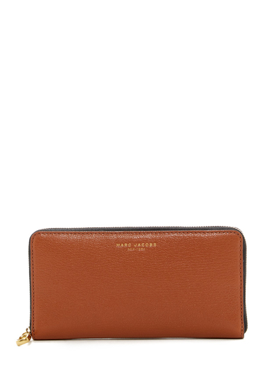 Genti Femei Marc Jacobs Perry Leather Continental Zip Wallet CARAMEL CAFE