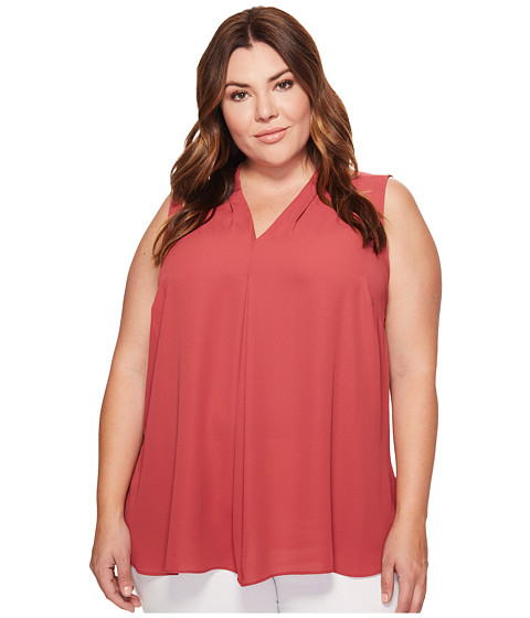 Imbracaminte Femei Vince Camuto Plus Size Sleeveless V-Neck Invert Pleat Blouse Sunset Rose