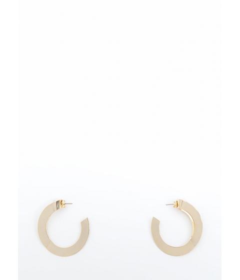 Bijuterii Femei CheapChic Peekaboo Pearls Partial Hoop Earrings Gold