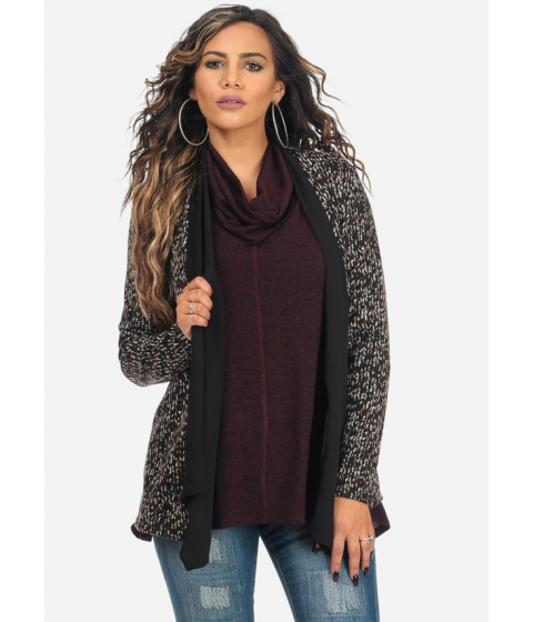 Imbracaminte Femei CheapChic Brown Printed Open Front Asymmetrical Stylish Cardigan Multicolor