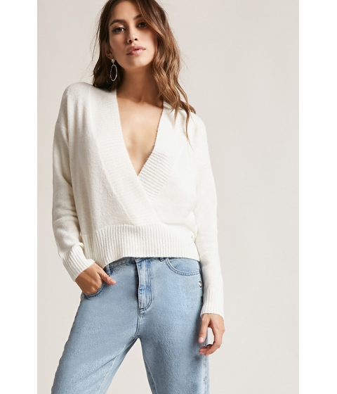 Imbracaminte Femei Forever21 Brushed Sweater-Knit Top WHITE