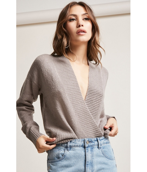 Imbracaminte Femei Forever21 Brushed Sweater-Knit Top GREY