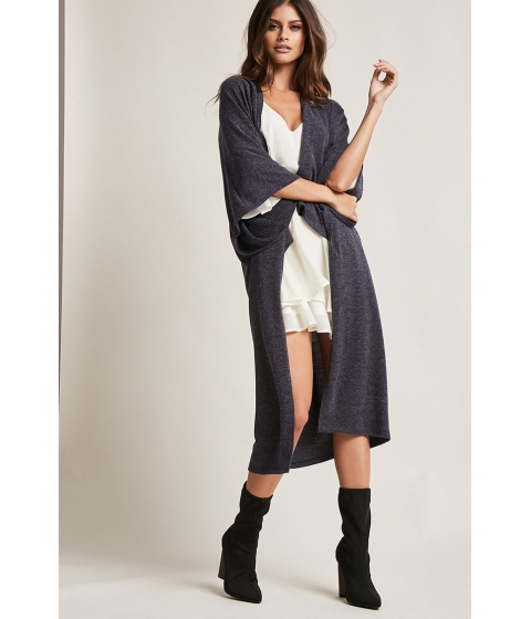 Imbracaminte Femei Forever21 Brushed High-Low Cardigan NAVY