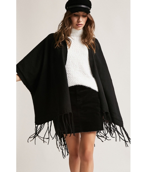Imbracaminte Femei Forever21 Brushed Fringed Shawl BLACK