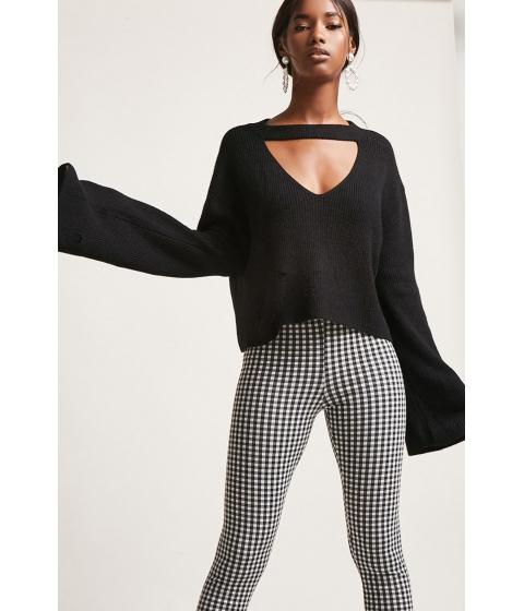 Imbracaminte Femei Forever21 Bell-Sleeve Cutout Sweater BLACK