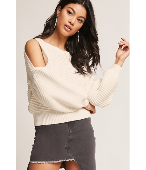 Imbracaminte Femei Forever21 Chunky Open-Shoulder Top CREAM