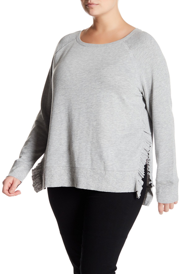 Imbracaminte Femei 14th Union Ruffled Pullover Plus Size GREY HEATHER