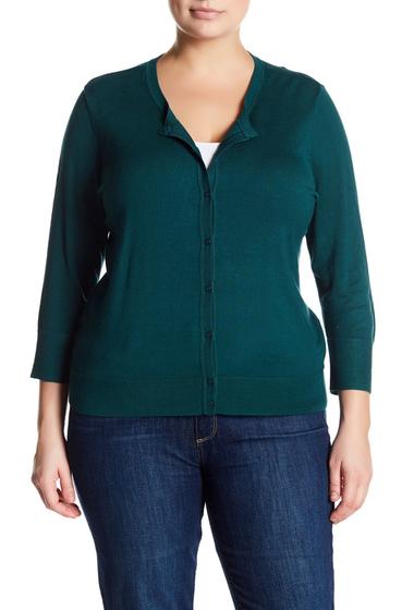 Imbracaminte Femei SUSINA Button-Down Knit Cardigan Plus Size TEAL DEEP