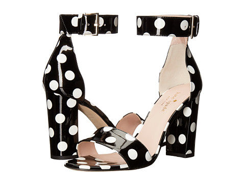 Incaltaminte Femei Kate Spade New York Idabelle Too BlackWhite Polka Dot Patent