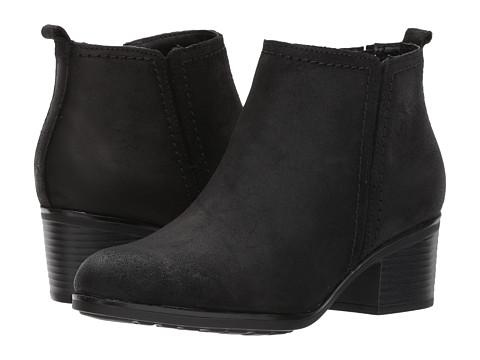Incaltaminte Femei Rockport Danii Side Zip Black Leather
