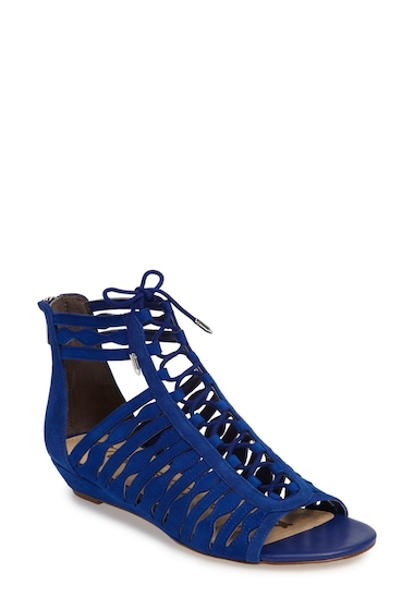 Incaltaminte Femei Sam Edelman Daleece Lace-Up Sandal ROYAL BLUE