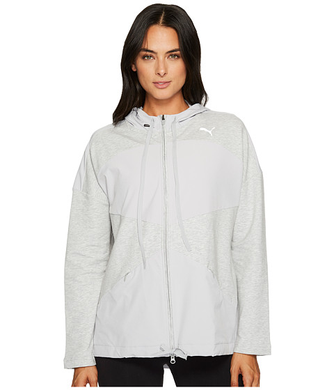 Imbracaminte Femei PUMA Transition Full Zip Jacket Light Gray Heather