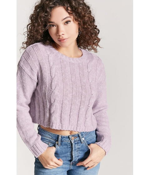 Imbracaminte Femei Forever21 Cable Knit Sweater LAVENDER