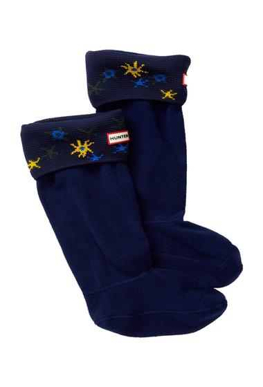 Accesorii Femei Hunter Original Tall Star Print Cuff Socks NAVY MULTI