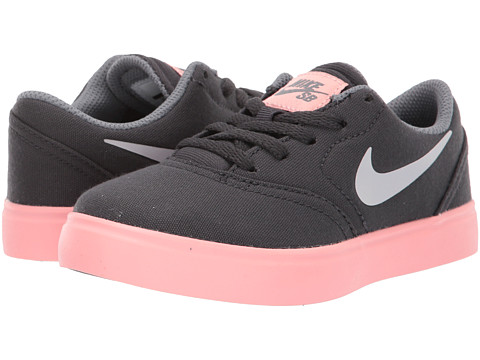 Incaltaminte Baieti Nike SB Kids Check Canvas (Little Kid) AnthraciteVast GreyCool Grey
