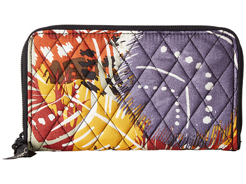 Genti Femei Chinese Laundry Accordion Wallet Painted Feathers